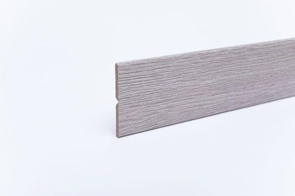 Knickleiste auf MDF-Träger in Holzoptik Eiche Weiß