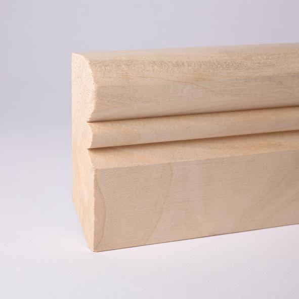 Alt-Reno Profil-Sockelleiste Massivholz 60mm - Ahorn roh