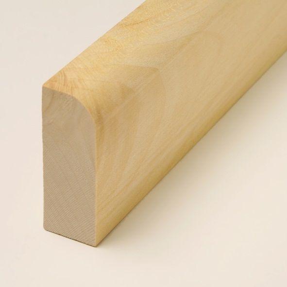 Massivholz-Sockelleiste 60mm abgerundet - Ahorn geölt