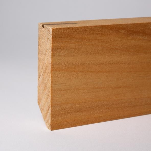 Vierkant Massivholz-Sockelleiste 60mm - Ahorn geölt