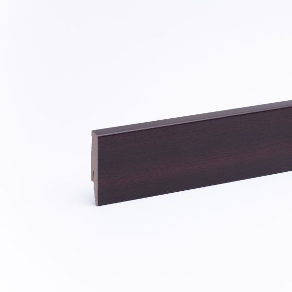 Sockelleiste mit Holzoptik 60mm Mahagoni