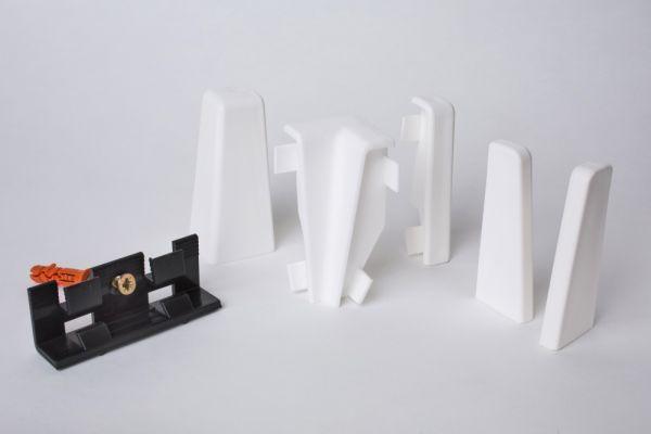 Aktionspaket Zubehör für MDF-Sockelleisten 60mm Weiß
