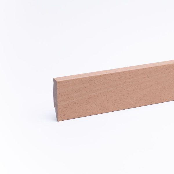 Sockelleiste mit Holzoptik 60mm Buche natur