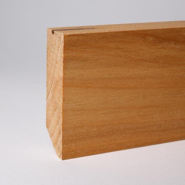 Vierkant Massivholz-Sockelleiste 80mm - Ahorn geölt