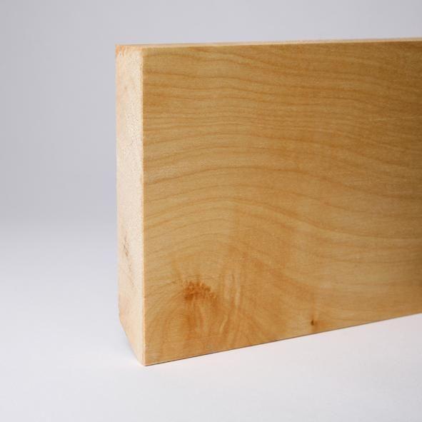 Vierkant Massivholz-Sockelleiste 120mm - Ahorn geölt